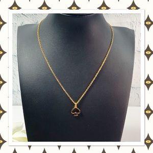 Kate Spade Gold Open Spade Pendant Necklace